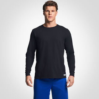 Men's Cotton Performance Long Sleeve T-Shirt BLACK