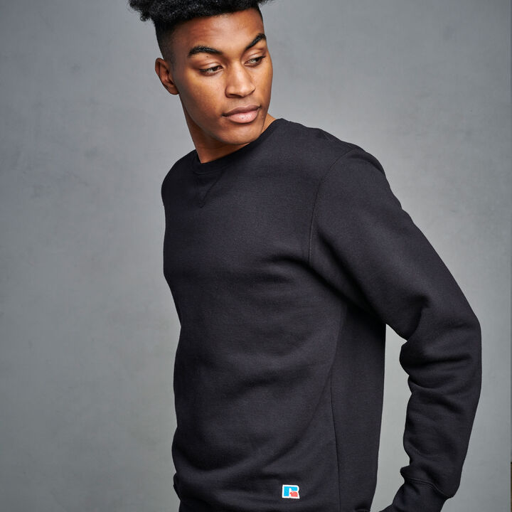 Men's Cotton Rich 2.0 Premium Fleece Sweatshirt Black