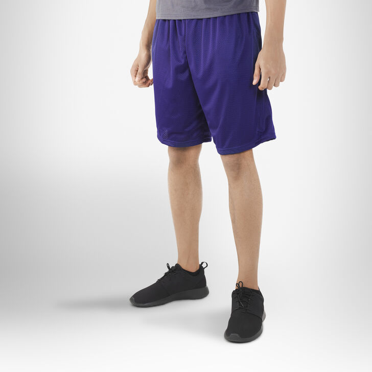 Men's Dri-Power® Mesh Shorts with Pockets PURPLE