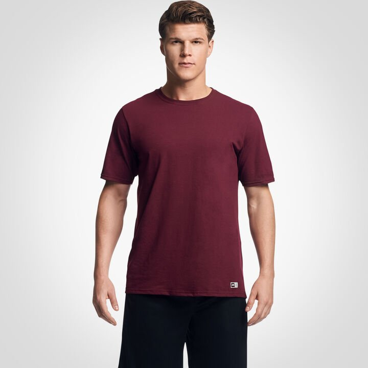 Men's Cotton Performance T-Shirt Maroon