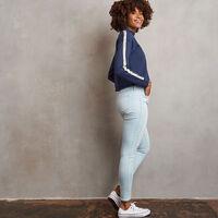 Women's Heritage Mid-Crop Twill Tape Fleece Sweatshirt NAVY