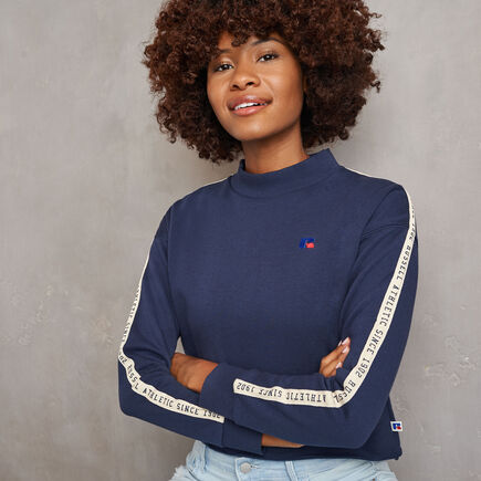 Women's Heritage Mid-Crop Twill Tape Fleece Sweatshirt