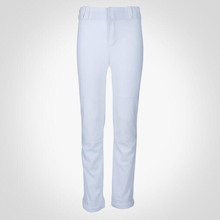 Youth Bootcut Baseball Pants WHITE