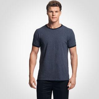 Men's Cotton Performance Ringer T-Shirt BLACK HEATHER/BLACK