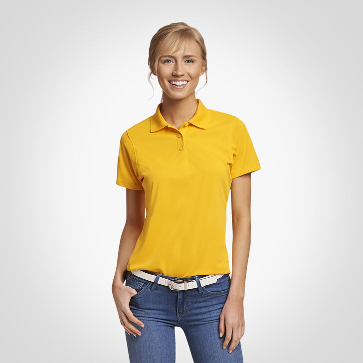Women's Dri-Power® Performance Golf Polo GOLD
