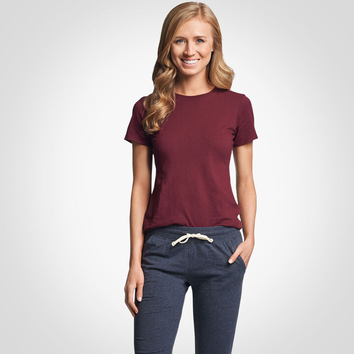 Women's Cotton Performance T-Shirt MAROON