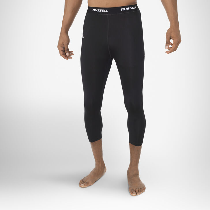Men's Dri-Power® 3/4 Compression Tights BLACK