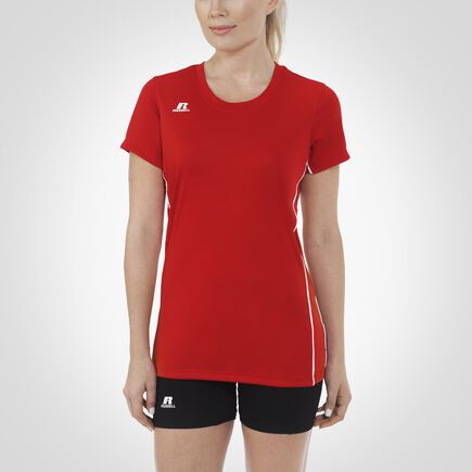 Women's Performance Short Sleeve Top TRUE RED/WHITE