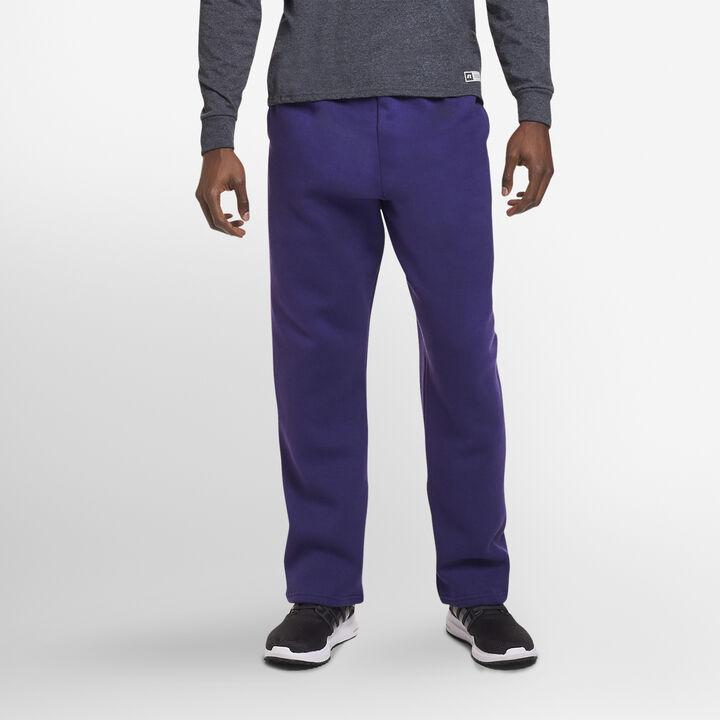 Men's Dri-Power® Open Bottom Fleece Sweatpants Purple