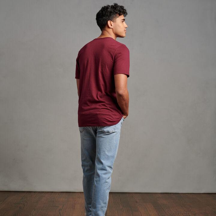 Men's Cotton Performance T-Shirt Maroon