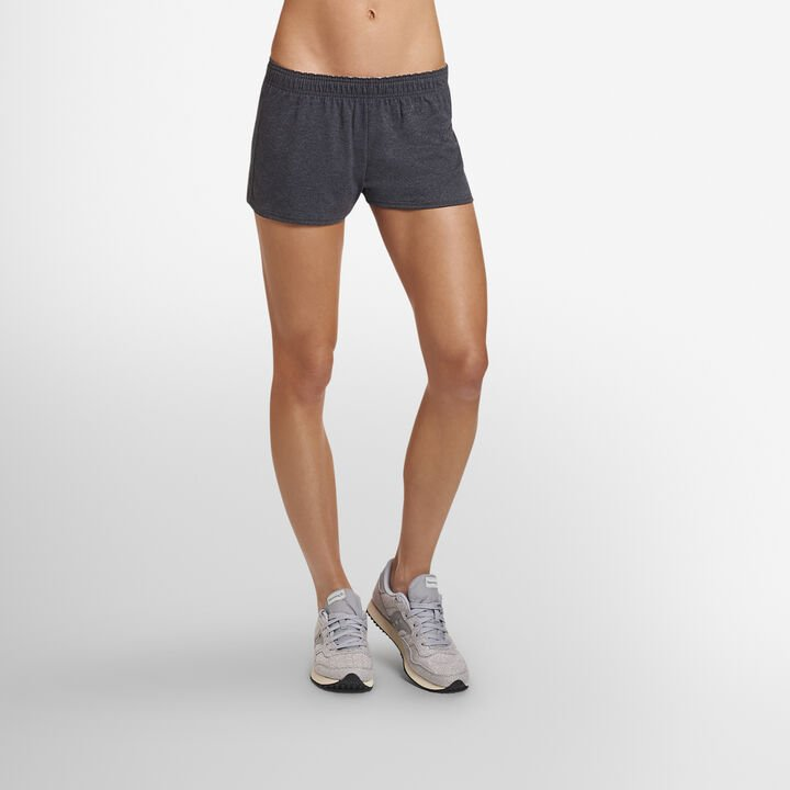 Women's Cotton Performance Active Shorts (No Pockets) BLACK HEATHER