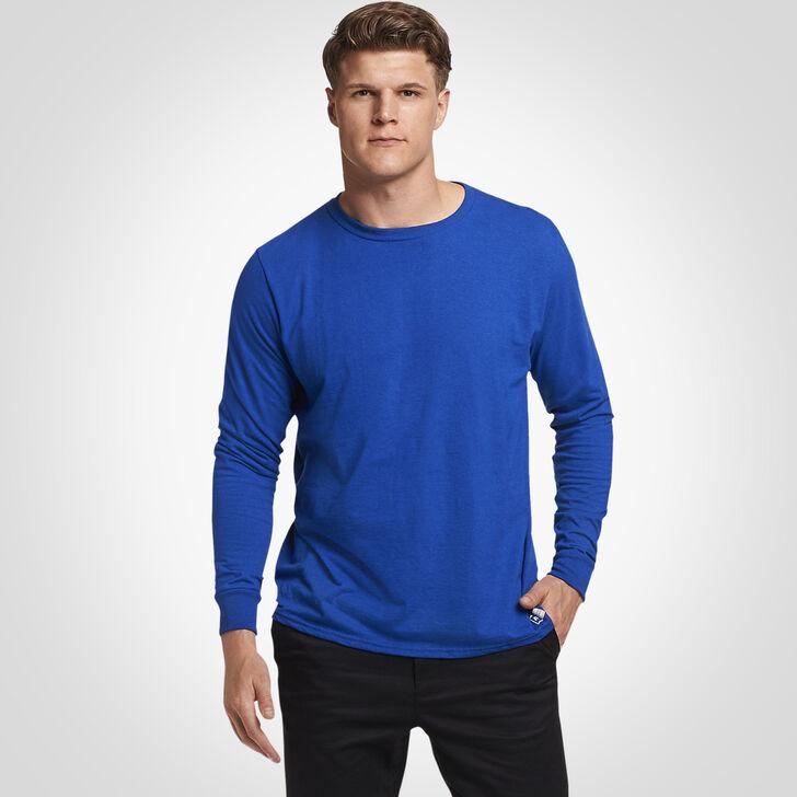 Men's Cotton Performance Long Sleeve Tee ROYAL