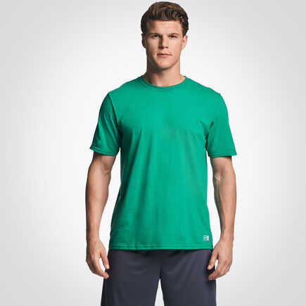 Men's Cotton Performance T-Shirt RETRO HEATHER GREEN