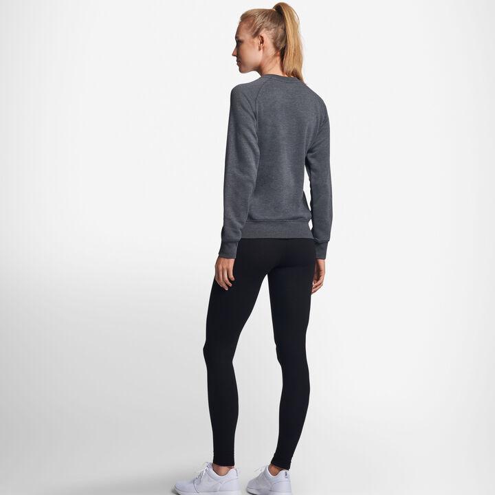 Women's Lightweight Fleece Crew Sweatshirt BLACK HEATHER
