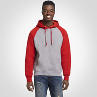 Men's Dri-Power® Fleece Colorblock Hoodie OXFORD/TRUE RED
