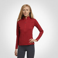 Women's Dri-Power® Lightweight Performance 1/4 Zip TRUE RED