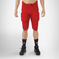 Men's Integrated 7-Piece-Pad Football Pants TRUE RED