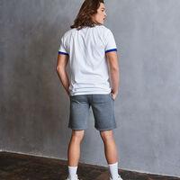 Men's Heritage Puff Print Graphic Ringer T-Shirt WHITE