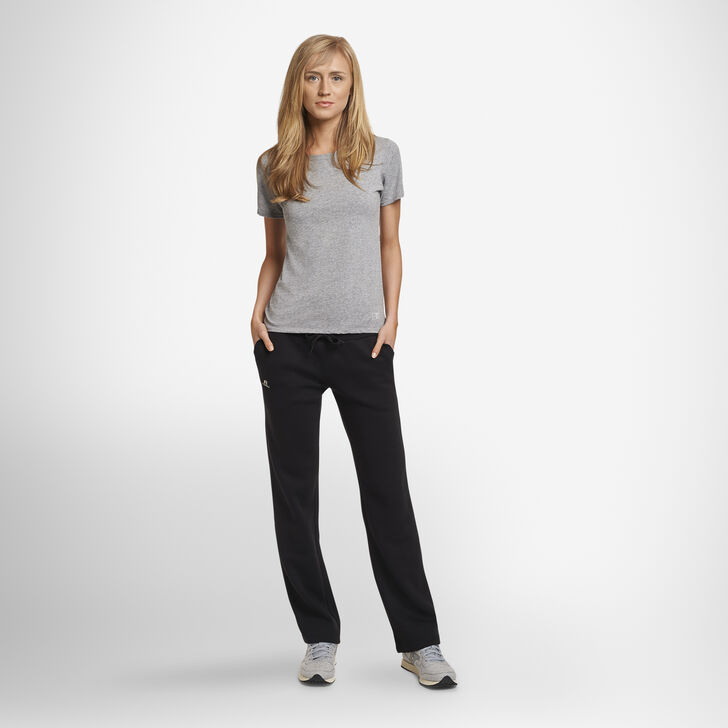 Women's Lightweight Fleece Sweatpants BLACK