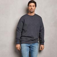 Men's Cotton Classic Fleece Crew Sweatshirt BLACK HEATHER