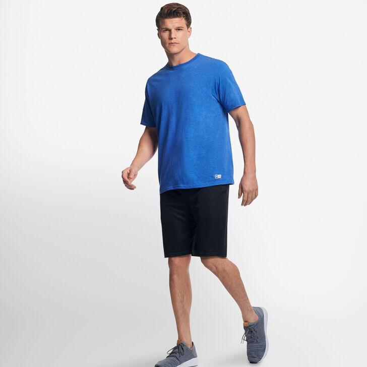 Men's Cotton Performance T-Shirt RETRO HEATHER ROYAL