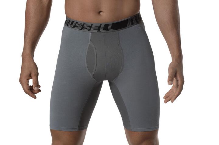Men's Cotton Performance Long Leg Boxer Briefs (3 Pack)