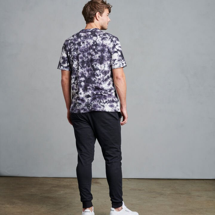 Men's Tie-Dyed Jude Tee BLACK