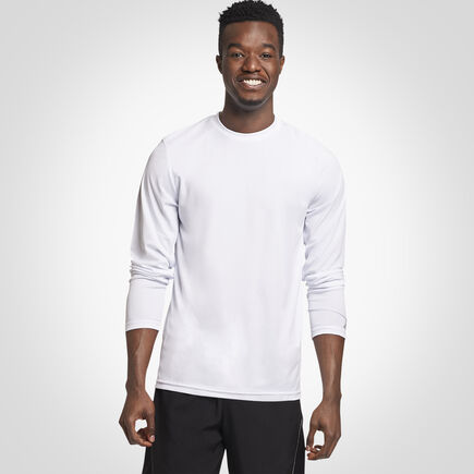 Men's Dri-Power® Performance Long Sleeve T-Shirt WHITE