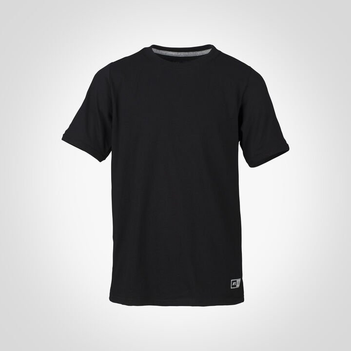 Youth Cotton Performance T-Shirt BLACK