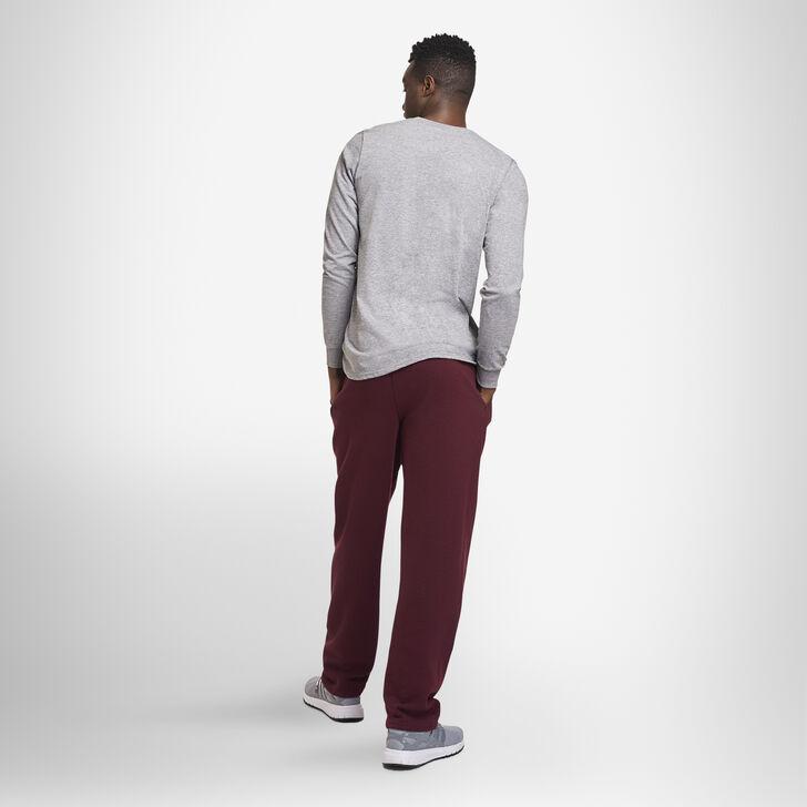 Men's Dri-Power® Open Bottom Fleece Sweatpants MAROON