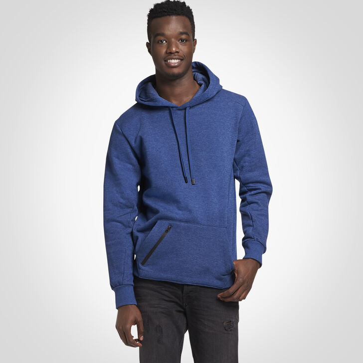Men's Cotton Rich Fleece Hoodie NAVY HEATHER