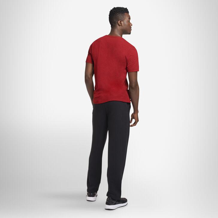 Men's Dri-Power® Open Bottom Fleece Sweatpants BLACK