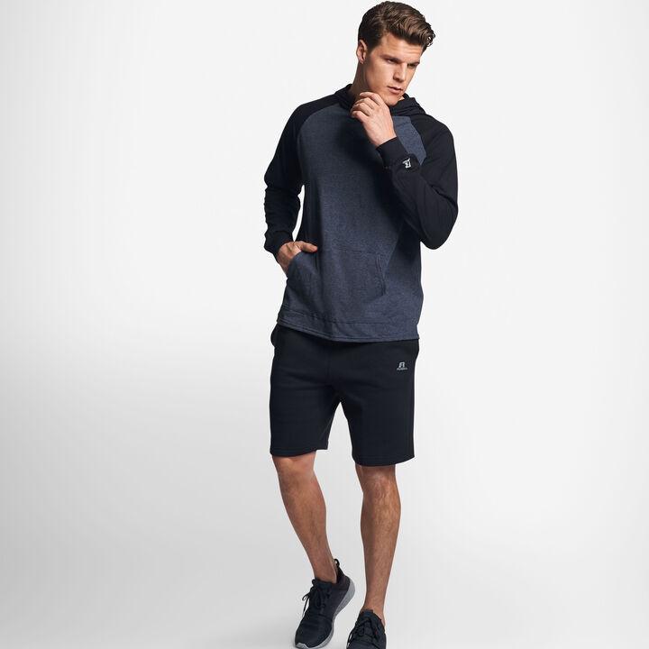 Men's Cotton Performance Lightweight Hoodie BLACK HEATHER/BLACK