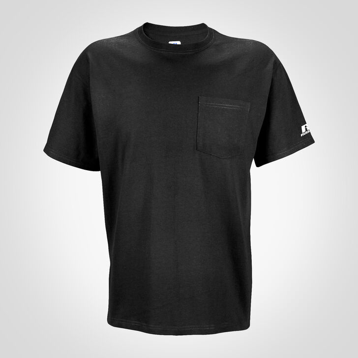 Men's Basic Cotton Pocket Tee BLACK