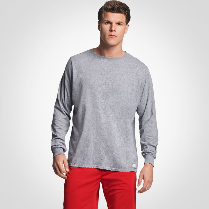 Men's Cotton Performance Long Sleeve T-Shirt OXFORD