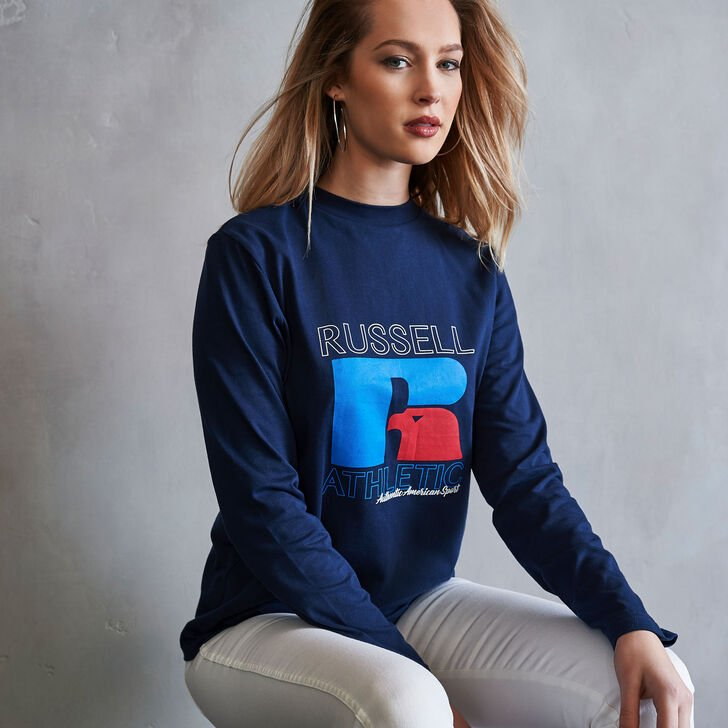 Women's Heritage Graphic Long Sleeve T-Shirt NAVY