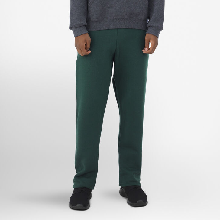 Youth Dri-Power® Open-Bottom Pocket Sweatpants DARK GREEN