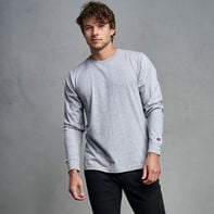Men's Premium Cotton Classic Long Sleeve T-Shirt OXFORD