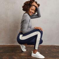 Women's Heritage High Waisted Twill Tape Leggings NAVY