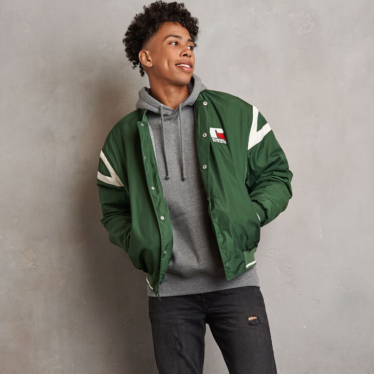 Men's Heritage Oversized Bomber Jacket PINEGREEN