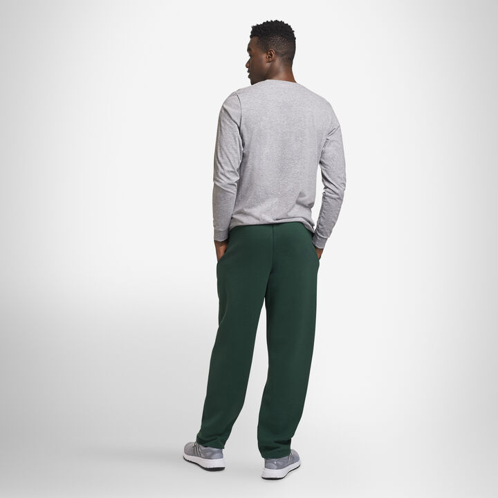 Men's Dri-Power® Open Bottom Fleece Sweatpants DARK GREEN