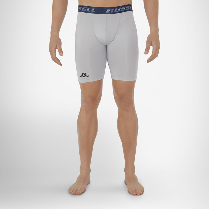 Men's Dri-Power® Compression Shorts GRIDIRON SILVER