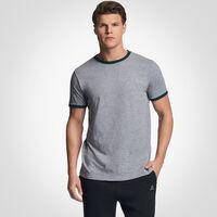 Men's Cotton Performance Ringer T-Shirt OXFORD/DARK GREEN