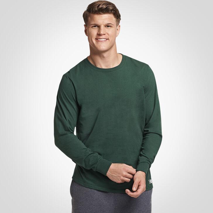 Men's Cotton Performance Long Sleeve Tee DARK GREEN