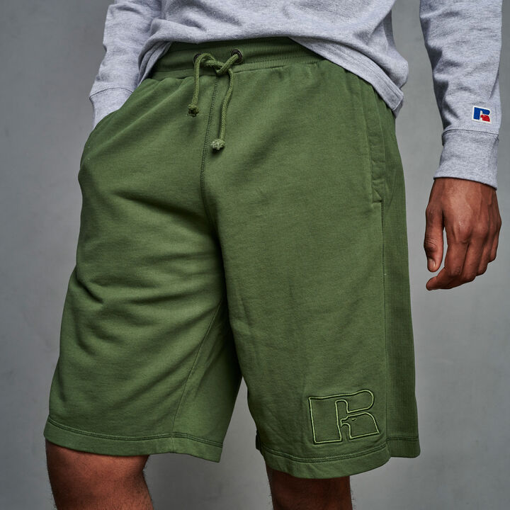 Men's Heritage Garment Dyed French Terry Fleece Shorts CYPRESS