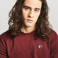 Men's Baseliner Heavyweight Cotton T-Shirt BURGUNDY