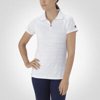 Women's Dri-Power® Striated Polo WHITE