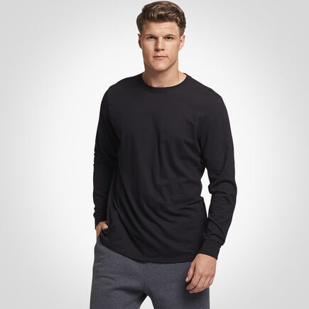 Men's Essential Long Sleeve Tee BLACK