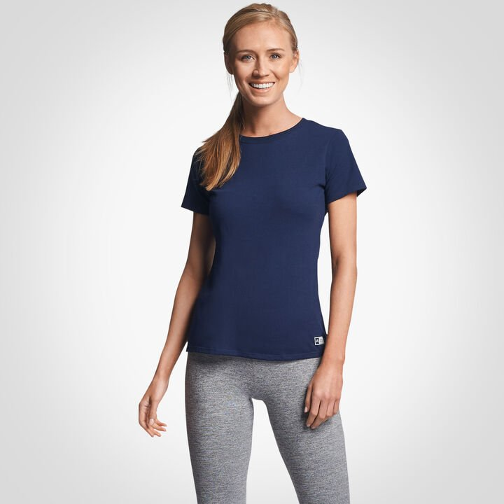 Women's Cotton Performance T-Shirt NAVY