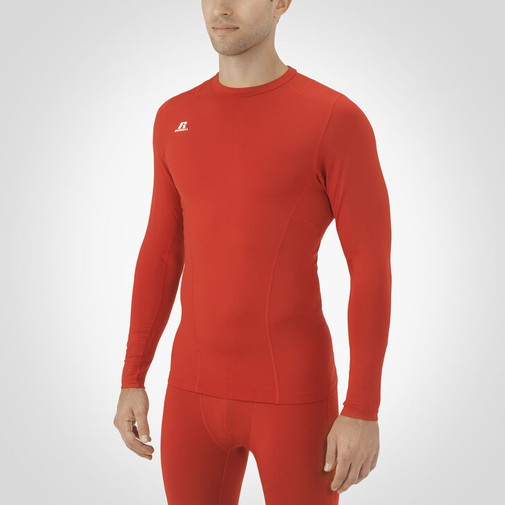 Men's Dri-Power® Tight-Fit Cold Weather Long Sleeve Crew TRUE RED
